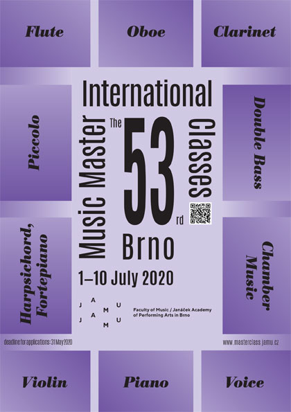 53th INTERNATIONAL MUSIC MASTER CLASSES BRNO