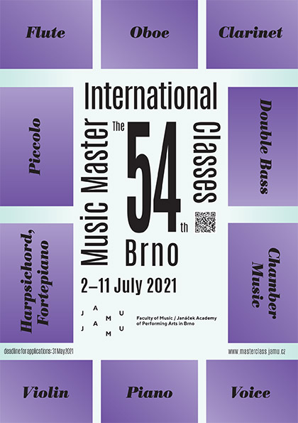 54th INTERNATIONAL MUSIC MASTER CLASSES BRNO
